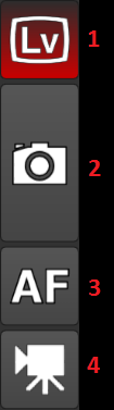 Camera control left side button