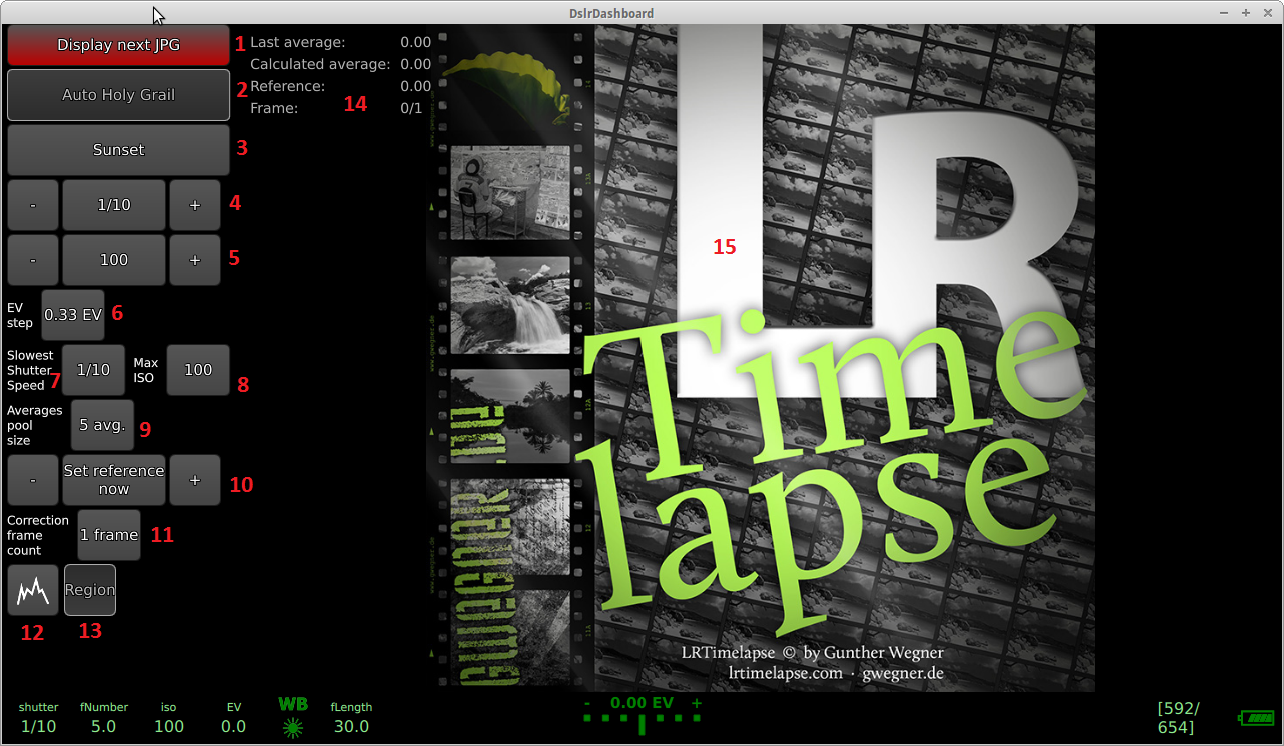 LrTimelapse screen